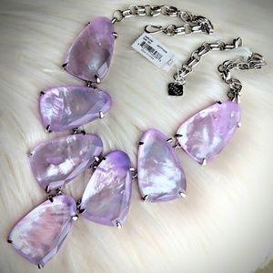 Kendra Scott Silver Lilac Pearl Harlow Custom